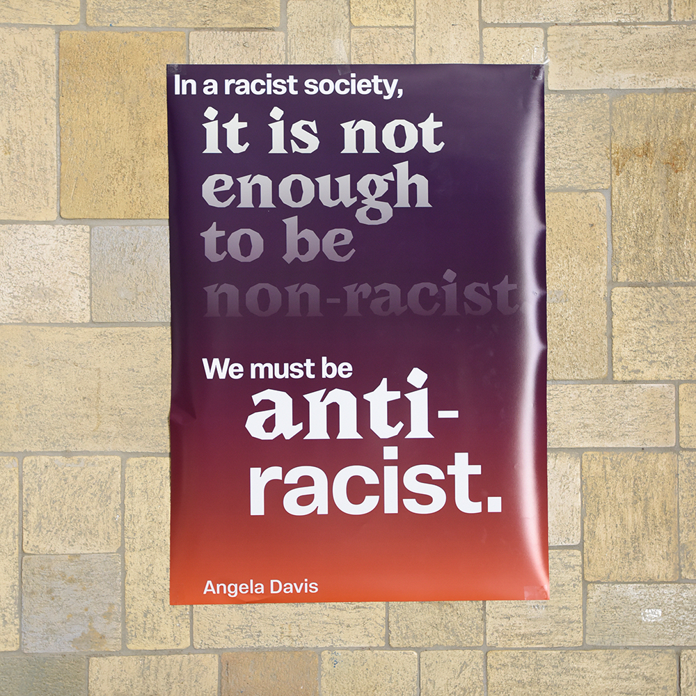 """Angela Davis: """"In a racist society, it is not enough to be non-racist, we must be antiracist."""""""